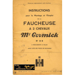Mc Cormick International 8 B 2 Chevaux Faucheuse
