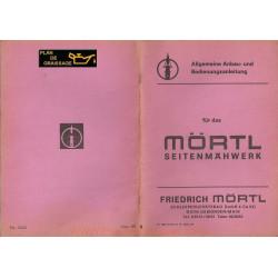 Mortl Anbau Bedienungsanleitung