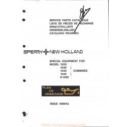 New Holland 1520 1530 1540 1545 S1550 Combine