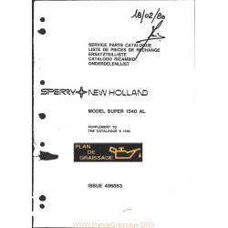 New Holland 1540al Combine