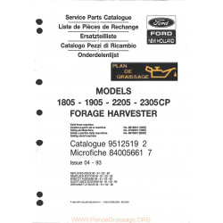 New Holland 1805 1905 2205 2305 Cp Forage Harvester
