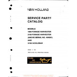 New Holland 1900 2100 Forage Harvester