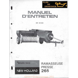New Holland 265 Ramasseuse