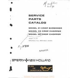New Holland 31 33 36 11 75 Crop Chopper