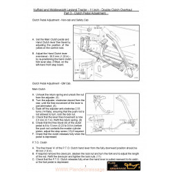 Nuffield Part 3 Clutch Pedal Adjustment