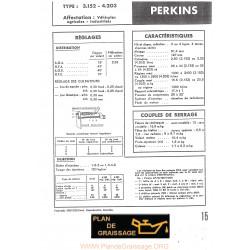 Perkins 3 152 Et 4 203 Moteur