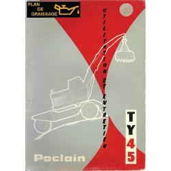 Poclain Ty45 Utilisateur