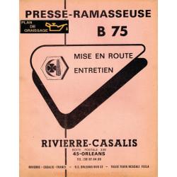 Rivierre Casali B 75 Presse Ramasseuse