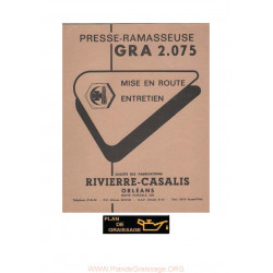Rivierre Casalis Gra 2 075 Ramasseuse Presse