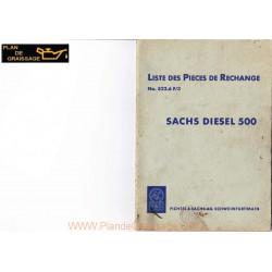 Sachs 500 Liste Moteur