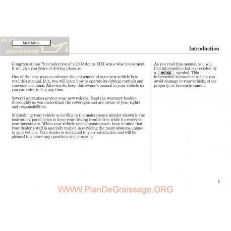 Acura 2009 Rdx User Manual