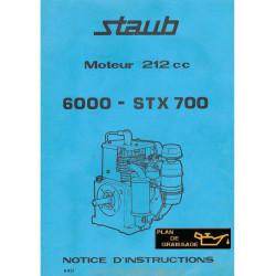 Staub 6000 Stx 700 Moteur Motoculteurs