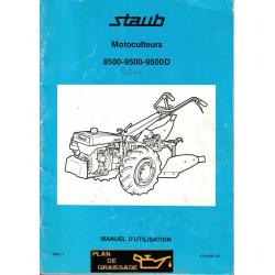 Staub 8500 9500 9500d Manuel Motoculteurs