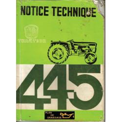 Utb 445 V L Notice 1971