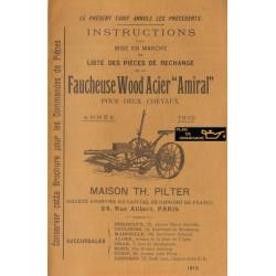 Wood Acier Amiral Faucheuse 2chevaux