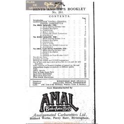 Amal Carburador Sujerencias Y Consejo De Folleto 1930 Ingles