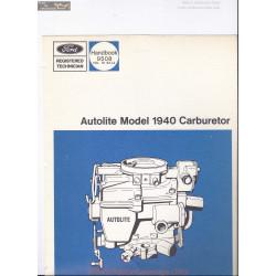 Autolite 1940 Manual Ford 9508