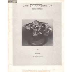 Carter Rbs Rebuild Manual 1971