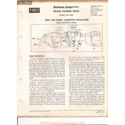 Delco Rochester 2g 2gc Tripple 1958 9d 10a