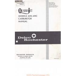 Delco Rochester 4mv 4mc Quadrajet Manual 1965