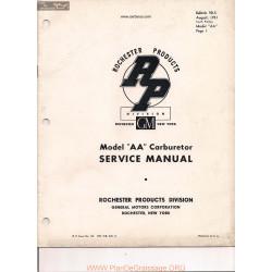 Delco Rochester Aa D 5 1951 Manual