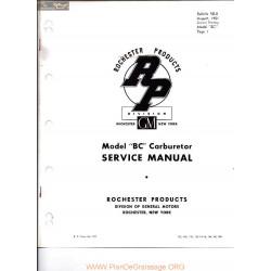 Delco Rochester Bc D 8 1951 Manual