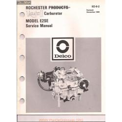 Delco Rochester E2se 9d 9 2 1980 Varajet Ii