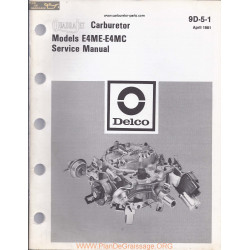 Delco Rochester E4me E4mc 9d 5 1 1981 Quadrajet