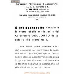 Dellorto Tabelle 1939