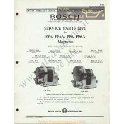General Bosch Ff4 A Ff6 Magnetos