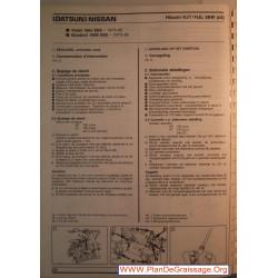 Hitachi Hjt Hjl 38w Datsun Nissan Viloet Bluebird 1600 180 Sss Carburator