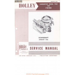 Holley 1909 1960 Carburetor Ford 1956