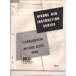 Holley 4000 Visual Instruction 1956