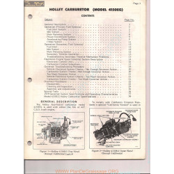 Holley 4150eg Carburetor Manual