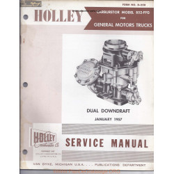Holley 852 Ffg Gmc Manual
