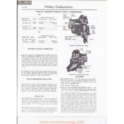 Holley Corvette 2300 C Tripple 1968 1969