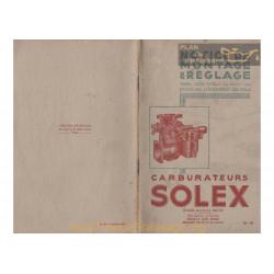 Solex 26 30 35 40 Double Notice 1938