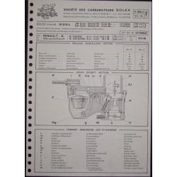 Solex 26 Dis 5renault 4 L Metropole Export R1120 R2102 R1123 R2104 3608d F