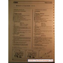 Weber 32 Dgv Escort Ii 1100 1300 Carburator