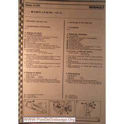 Weber 32 Dit Renault R18 Gtl 1600 Carburator