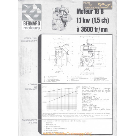 Bernard 18 B 1 5ch Techniques Moteur