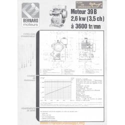 Bernard 39 B 3 5ch Techniques Moteur