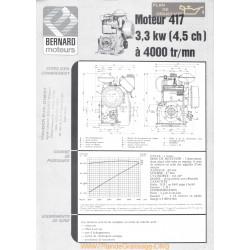 Bernard 417 C 4 5ch Techniques Moteur