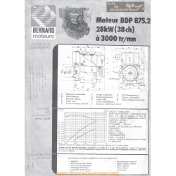 Bernard Bdp 875 38ch Techniques Moteur