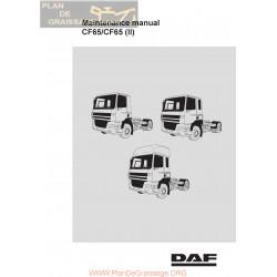 Daf Cf65 Maintenance Manual