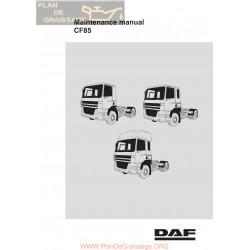 Daf Cf85 Maintenance Manual