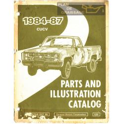 Gmc 52d Cucv Parts Illustration Catalog 1984 1987