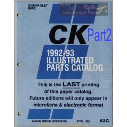 Gmc 53c Part 2 Illustration Catalog 1992 1993 Part2