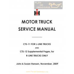International Cts 11 12 Line Service Manual