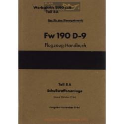 Flugzeug Handbuch Fw 190 D 9 Teil 8a 1944